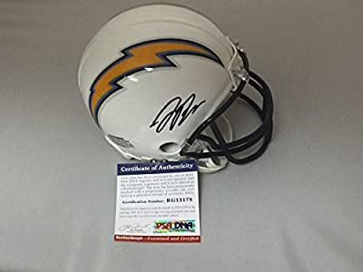 Autographed/Signed Joey Bosa San Diego Chargers Mini Football Helmet PSA/DNA COA