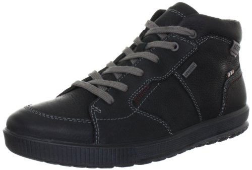 Ecco Bradley Black/Dark Shadow Quarry/Sambal Ankle Boots Mens Black Schwarz (BLACK/DARK SHADOW) Size: 12 (46 EU)