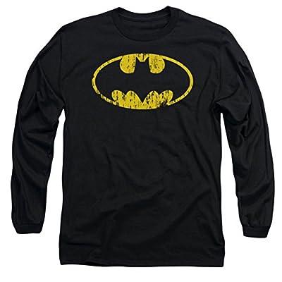 DC Batman Classic Logo Distressed Long Sleeve T-Shirt