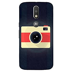 Yellow Red Camera - Mobile Back Case Cover For MOTOROLA MOTO G4 PLUS