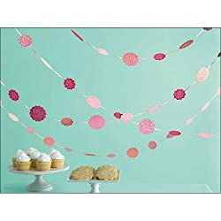 Martha Stewart Crafts Hanging Dots, Pink Glittered