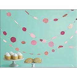 Martha Stewart Crafts Hanging Dots, Pink Glittered
