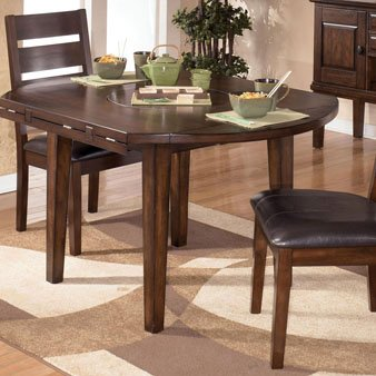 Market Square Lexington Round Drop Leaf Dining Table