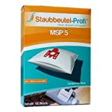 Staubbeutel-Profi® MSP5 10 Vacuum Cleaner Bags for Miele F, J, M, Miele S 371, S 762 , S 241-S 256i, S 290-S 299i, S 300i to S 399i, S 4000 to S 4999, S 500 to S 599, S 700 to S 799, Made in Germany