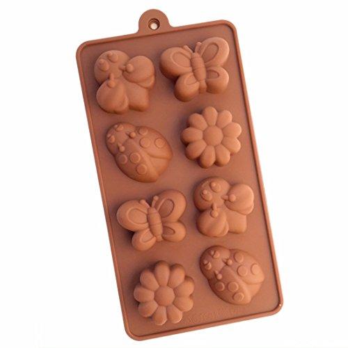 Qiyun Diy Hohlraum Bienen Kaefer Blume Schokoladenform Eiswuerfelschale Braun Silikon Backform