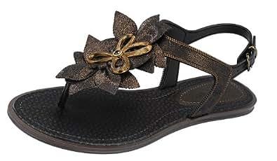 Grendha Jasmine femmes Flip Flops / Sandals - noir - SIZE EU 37