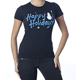 Happy Holidays (Nails) T-Shirt Black