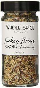 Whole Spice Turkey Brine Seasoning Salt FreeJar, 2.2 Ounce