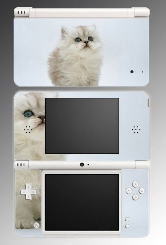Cat Persian Kitty Kitten Game Vinyl Decal Skin Protector Cover for Nintendo DSi XL