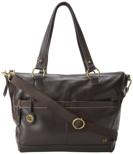 The SAK Iris Satchel Handbag,Chocolate,One Size