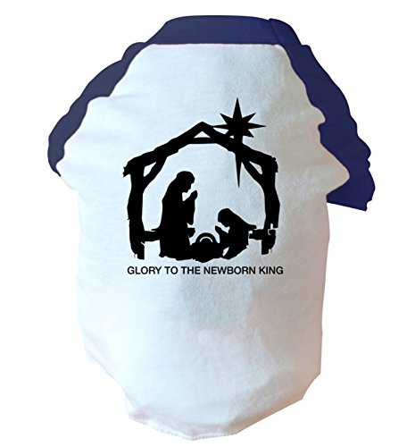 Glory to the newborn king two toned dog vest pink or blue