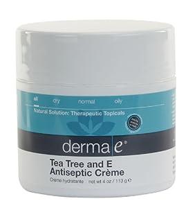 derma e Soothing Skin Treatment, Tea Tree & E Antiseptic Crème, 4 oz (113 g)