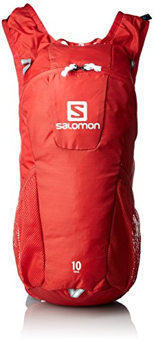 Salomon Trail RUHTRAIL Unisex 10, Unisex, Rucksack TRAIL, Bright Red/White, 46 x 20 x 12 cm, 10 Liter
