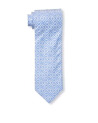 Versace Men's Greek Key Tie, Blue