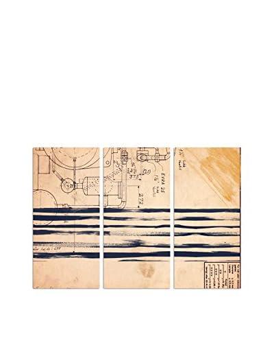 Oliver Gal Ethan Triptych Canvas Art