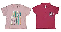 Wise Guys Cotton Printed Polo & Round Neck T-Shirt for Baby Kids (Pack of 2) (6 to 9 Months) TOP4