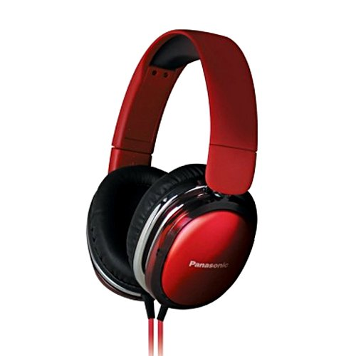Panasonic RP-HX350 Red Over-Ear Headphones for iPod/MP3 player/Mobiles