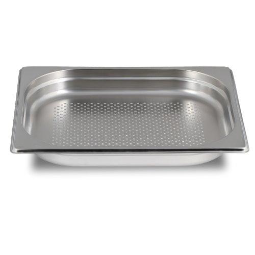 Greyfish GN-Behälter :: gelocht :: für Gaggenau / Miele / Siemens Dampfgarer (Edelstahl / Spülmaschinen geeignet, Gastronorm 1/2, B 32,5 x T 26,5 x H 4,0 cm)