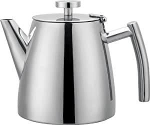 Grunwerg Cafe Ole Double Walled Stainless Steel Teapot 1.2L 40oz HTP-12DW