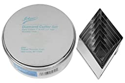 Ateco 8 Piece Stainless Steel Diamond Shaped Cutter Set