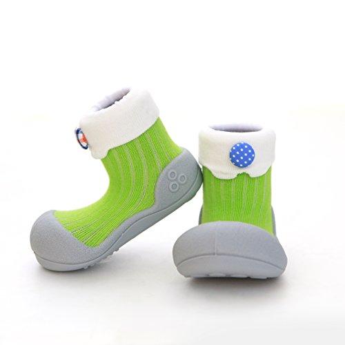 Attipas LollipopGreen - 19 Scarpe primi passi bambini Bambine e bambini, Anti-scivolo, ergonomica
