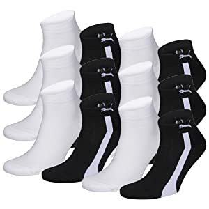 PUMA Unisex Sustainable Quarters Sport Socken Sportsocken 12er Pack black 200 - 39/42