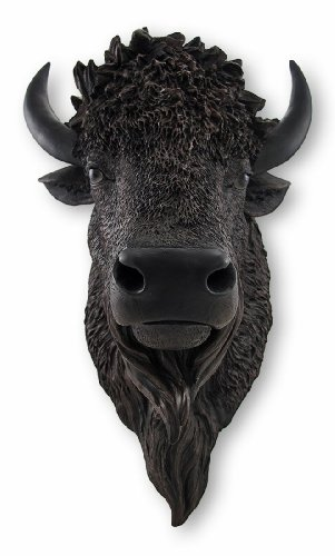 Realistic American Bison Head Statue Wall Mount (Bison Head compare prices)