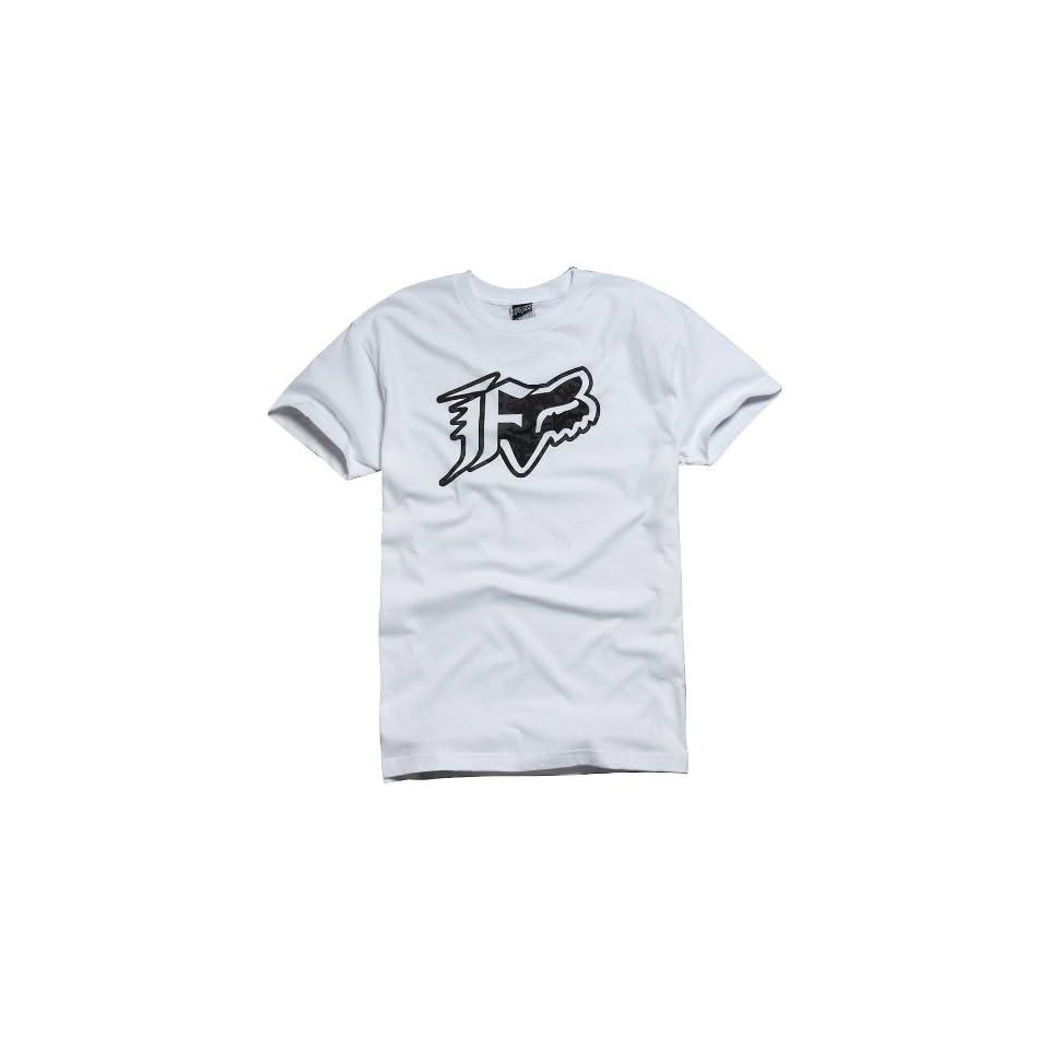 Fox Racing Stockholm T Shirt   Medium/White Automotive