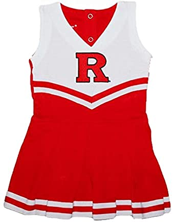 Rutgers Scarlet Knights NCAA Newborn Baby Cheerleader Bodysuit Dress