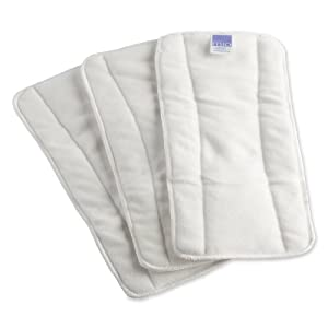 Bambino 3 Count Mio Mioboost Reusable Diaper, White