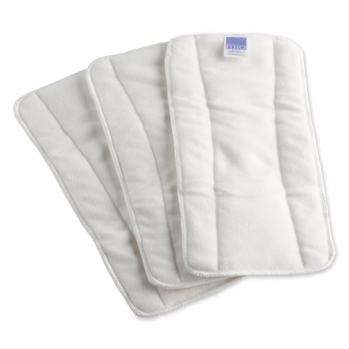 Bambino 3 Count Mio Mioboost Reusable Diaper, White back-882300
