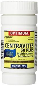 Optimum Centravites 50 plus Multivitamin/Multimineral Tablets, 100 Count