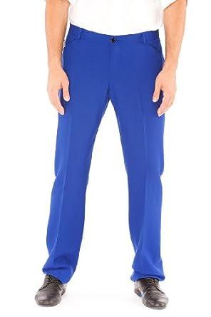 Emporio Armani Blue Virgin Wool Pants Trousers, 58, Blue