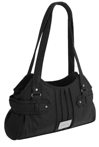 EyeCatchBags - Athens Damen Handtasche aus Kunstleder Schwarz