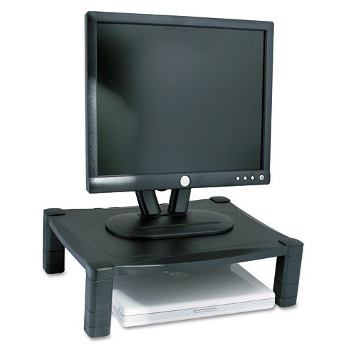 Buy Low Price Comfortable Kantek Products – Kantek – Single Level Height-Adjustable Stand, 17w x 13 1/4d x 3 to 6 1/2h, Black – Sold As 1 Each – Raises monitor or laptop to a comfortable viewing level. – Wide design for today's larger laptop computers. – Cable management controls wires and cords. (B004E2RUHQ)