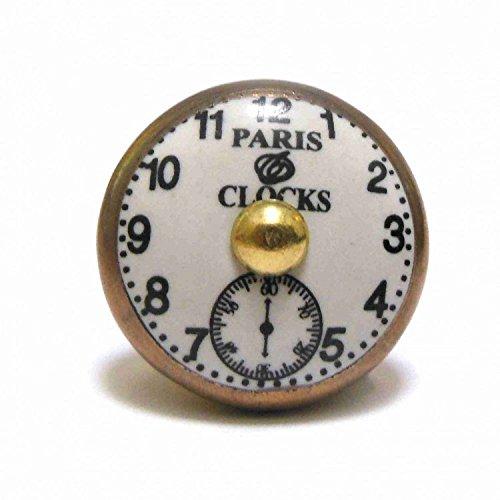 parigi-orologio-oro-di-stile-vintage-in-ceramica-armadio-porta-manopola