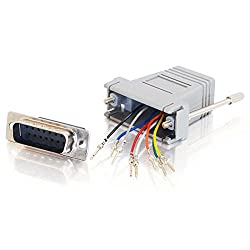 C2G / Cables To Go 02926 RJ45 to DB15 Male Modular Adapter