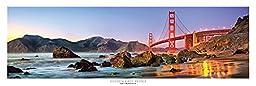 Award Winning Panoramic Art Print Poster #3 - San Francisco Golden Gate Bridge Sunset (Panorama Poster)