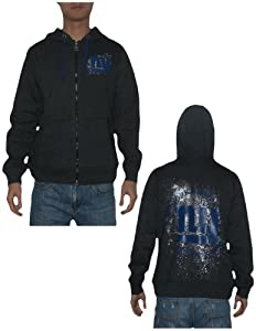 NFL New York Giants Mens Zip-Up Hoodie Jacket (Vintage Look) by NFL