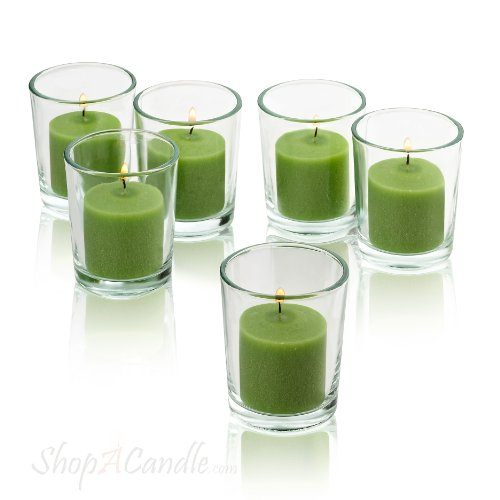 Lime green votive candles