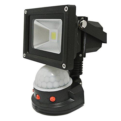 Miniwatts Ip66 Waterproof 10W Cool White Pir Motion Sensor Led Floodlight