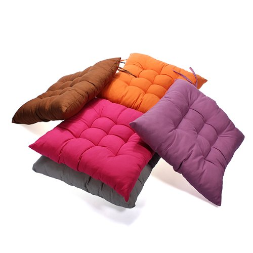Beautyforall Soft Square Cotton Seat Cushion Home Sofa Office Chair Pillow Random Color