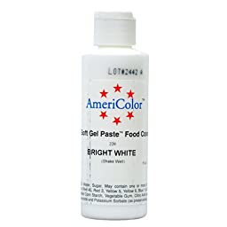 Americolor Soft Gel Paste Food Color, 6-Ounce, Bright White by AmeriColor
