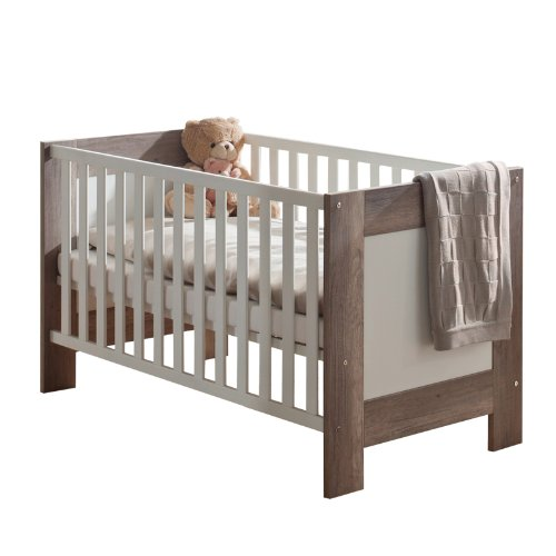 Babyzimmer Babybett wildeiche trüffel Schlupfsprossen Gitterbett Baby Bett