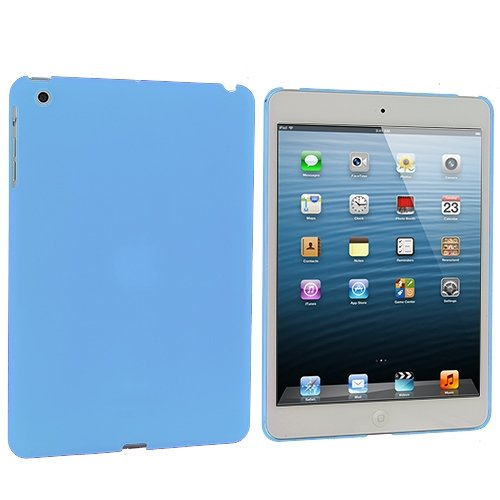Cell Accessories For Less (Tm) Baby Blue Hard Rubberized Back Cover Case For Apple Ipad Mini // Free Shipping By Thetargetbuys front-1044942