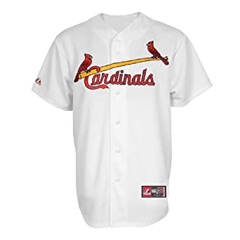 MLB St. Louis Cardinals Chris Carpenter White Home Short Sleeve 6 Button Synthetic... by Majestic