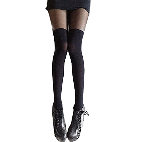 Women's Black Over the Knee Tights Thigh High Stocking