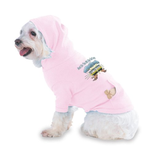 And On The 8th Day God Created COMIC BOOKS Hooded (Hoody) T-Shirt with pocket for your Dog or Cat Medium Lt Pink