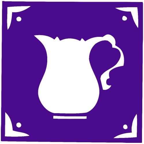 Cofee Tea Pot Kettle Decal Sticker (Purple, 5 Inch, Mirrored)
