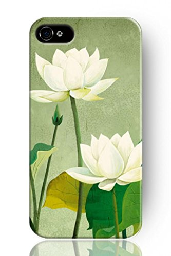 Sprawl New Retro Vintage Design Snow White Lotus Personalized Hard Plastic Snap On Slim Fit Iphone 5 5S Case Flower front-224910